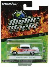 `55 Chevrolet Bel Air Coupe White/ Flames 1955 *** Greenlight  1:64 NEU+OVP