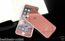 Apple iPhone 5S Rose Gold Tempered Glass Mirror Shiny Effect - Front & Back Side