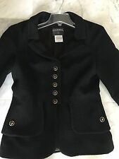 Authentic Chanel black jacket size 40 . Logo buttons