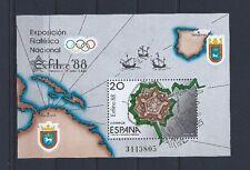 ESPAÑA 1987 EXPOSICIÓN FILATÉLICA NACIONAL EXFINA´88 EDIFIL 2956 HB