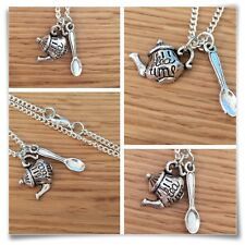 *Alice in Wonderland* Mini Tea time Teapot necklace
