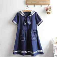 2016 summer kawaii cute blue catty uniform dress