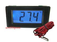 Digital Blue LCD Thermometer Temperature Panel Meter -50C +150C With Probe
