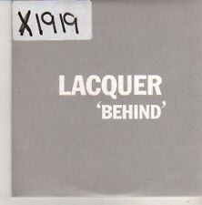(CN286) Lacquer, Behind - 2003 DJ CD