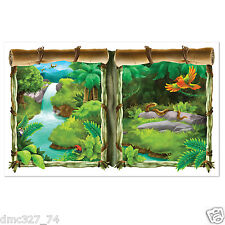ZOO Safari Decoration WINDOW Wall INSTA VIEW Create A Scene Rain Forest JUNGLE