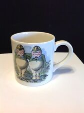 Poole Pottery Alice In Wonderland The Mad Hatter's Tea Party Cup Tweedle Dee&Dum