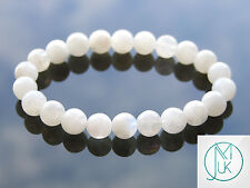 Moonstone Natural Gemstone Bracelet 7-8'' Elasticated Healing Stone Chakra
