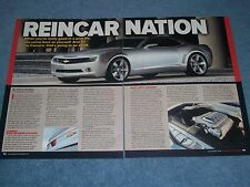 "2006 Chevy Camaro Concept Article ""Reincarnation"" 5th Generation 2010"