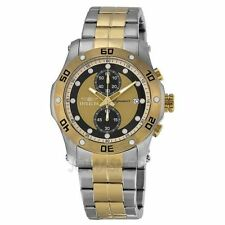 New Invicta Signature II Chronograph Gold Dial Two-tone Mens Watch 7384
