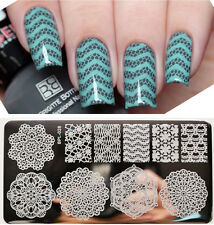 BORN PRETTY Nail Art Stamping Plate Vines Lace Chevron Image Template BP-L028