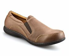 Ladies Womens New Casual Flat Slip On Walking Smart Office Work Pumps Shoes Size