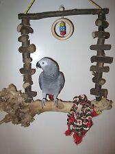 Papageienspielzeug Freisitz SCHAUKEL Wurzelholz für Papageien **NEU**