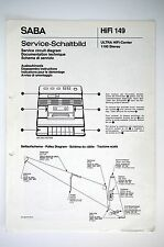 SABA ULTRA HIFI-CENTER 1100 STEREO Service-Schaltbild/Manual/Diagram o53