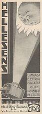 Z3294 Lampada elettrica portatile HELLESENS - Pubblicità d'epoca - 1930 Old ad