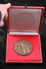 Hungary 50 Year Garment Factory 1917 1967 Workers Unknown Desk Medal Box Brass