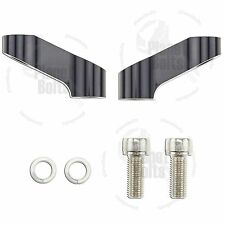 2x Black 10mm Mirror Riser Extender Standard Thread Motorbike Motorcycle Scooter