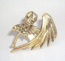 Adjustable Pirate Death Skull Bone Cross Alloy Metal Biker Ring