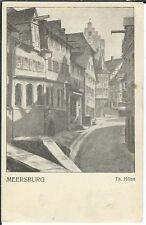Ansichtskarte Meersburg - Straßenansicht - Künstlerkarte Th. Höhn - TOP