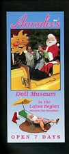 Oversized postcard New Hampshire NH Meredith Annalee's Doll Museum Advertising