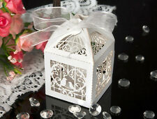 50 X Laser Cut Sweets Love Bird Babyshower Wedding Favors Candy Gifts Boxes TM#