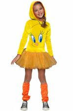 Girls Tweety Bird Costume Hoodie Tutu Dress Looney Tunes Child Size Large 12-14