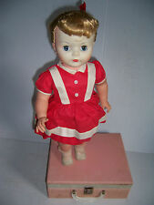 VINTAGE 1960S WESTINGHOUSE SARANADE BLONDE TALKING DOLL AND RECORD PLAYER
