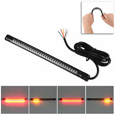 Universal flexible 32 LED motorcycle light strip tail brake stop/turn sign light