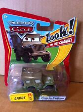"""DISNEY CARS DIECAST - """"Sarge With Changing Eyes"""" - Combined Postage"""