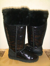 UGG OVER THE KNEE BAILEY BUTTON SPARKLES  BLACK US 8 / EU 39 / UK 6.5 NIB LTD ED