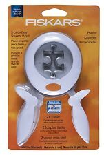 Fiskars XL Easy Squeeze Puzzled Puzzle Piece Paper Punch Scrapbooking NEW