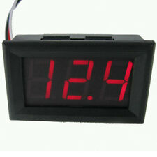 DC 0-30V Wire LED 3-Digital Display Voltage Voltmeter Accurate Panel Red UK