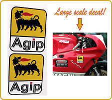 Agip decal sticker large decals ducati moto guzzi magni aprilia mv agusta - PAIR