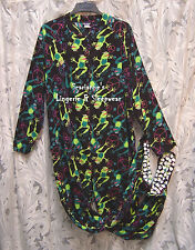 JOE BOXER PEACE/FROGS ADULT FLEECE ONE PIECE ONESIE FOOTED FOOTIE PAJAMAS~1X~NEW