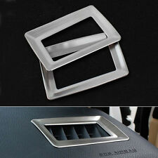 2x Stainless Inner Accessories Air Vent Outlet Frame Cover Trim For Corolla 2014
