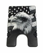 BilletVault Wallet, Aluminum RFID protection, AMERICAN. FLAG WITH EAGLE