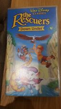VHS Video ~ DISNEY , The rescuers down under approx 74 mins