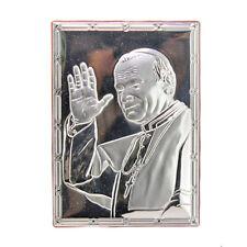 Quadro Volto Giovanni Paolo II 5316-13 Laminato in Argento 925 Forma Quadrata