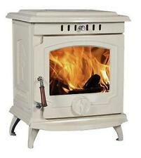 11.5KW Lilyking 657 Cream Enamel Cast Iron Multi Fuel Boiler Stove