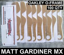 100 qty TEAR OFFS fit OAKLEY O-FRAME MOTOCROSS GOGGLES