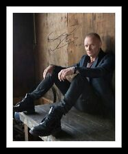 STING AUTOGRAPHED SIGNED & FRAMED PP POSTER PHOTO 1