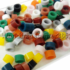 240PCS Dental Silicone Instrument Muti-Color CODE RING Band Autoclavable Small