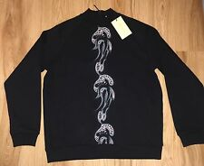 Christopher Kane Embroidered Black Sweatshirt Sweat Jumper UNIQUE NEW L