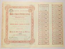 Dépt 57 - Pierrevillers - Epoque Annexion Allemande Mines & Usines de 1873