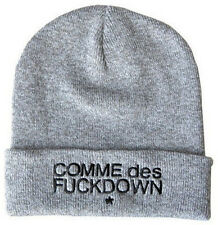 Hip-Hop chic SSUR COMME DES FUCKDOWN Knitting Wool Beanie Hat gray