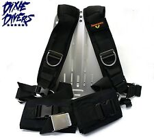 AMARANTO DELUXE HARNESS AND ALUMINUM BACKPLATE TECHNICAL SCUBA DIVING TECH DIVE