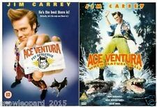 ACE VENTURA 1 AND 2 WHEN NATURE CALLS DVD JIM CARREY MOVIE FILM COLLECTION NEW