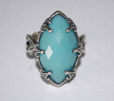 CAROLYN POLLACK RELIOS AMAZONITE STERLING SILVER 925 LADIES FILIGREE RING Sz10