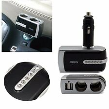 2 Way Multi Socket Car Cigarette Lighter Splitter USB Plug Adapter Charger 12V
