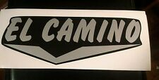 "El Camino Vintage Travel Trailer decal set two black with silver letters15"" long"