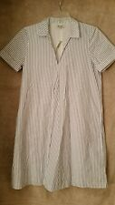 Madewell Striped Tunic Shirtdress F3137 XS abbey pin stripe blue white
